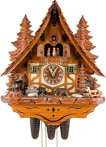 Image For Cuckoo Clock 8-day-movement Chalet-Style 45cm by Anton Schneider