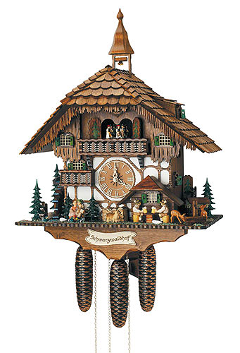 Image For Cuckoo Clock 8-day-movement Chalet-Style 60cm by Anton Schneider