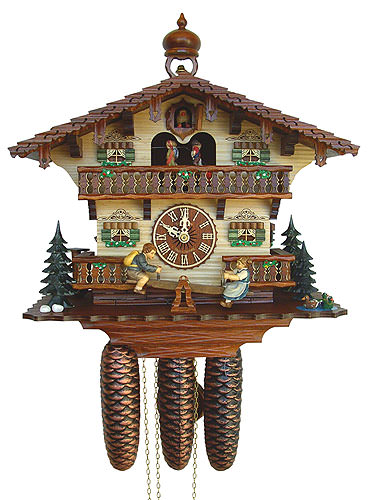 Image For Cuckoo Clock 8-day-movement Chalet-Style 33cm by Anton Schneider