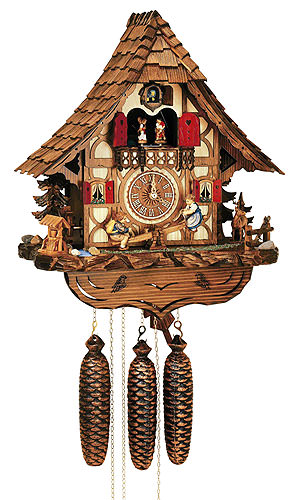 Image For Cuckoo Clock 8-day-movement Chalet-Style 44cm by Anton Schneider