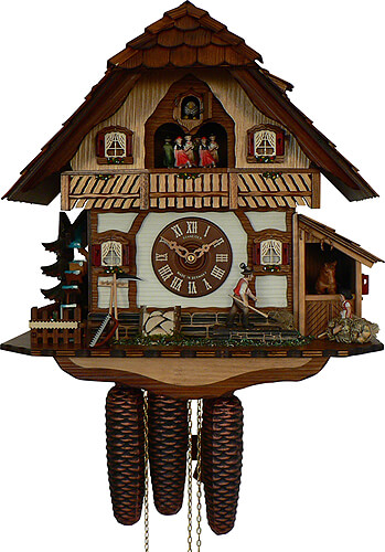 Cuckoo-palace.com Cuckoo Clock 8-day-movement Chalet-Style 42cm by Anton Schneider