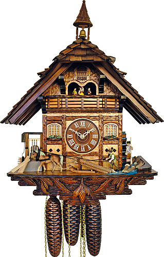 Image For Cuckoo Clock 8-day-movement Chalet-Style 53cm by Anton Schneider