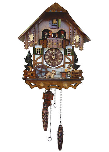 Image For Cuckoo Clock Quartz-movement Chalet-Style 33cm by Anton Schneider