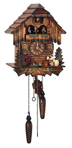 Image For Cuckoo Clock Quartz-movement Chalet-Style 32cm by Anton Schneider