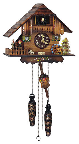 Image For Cuckoo Clock Quartz-movement Chalet-Style 22cm by Anton Schneider