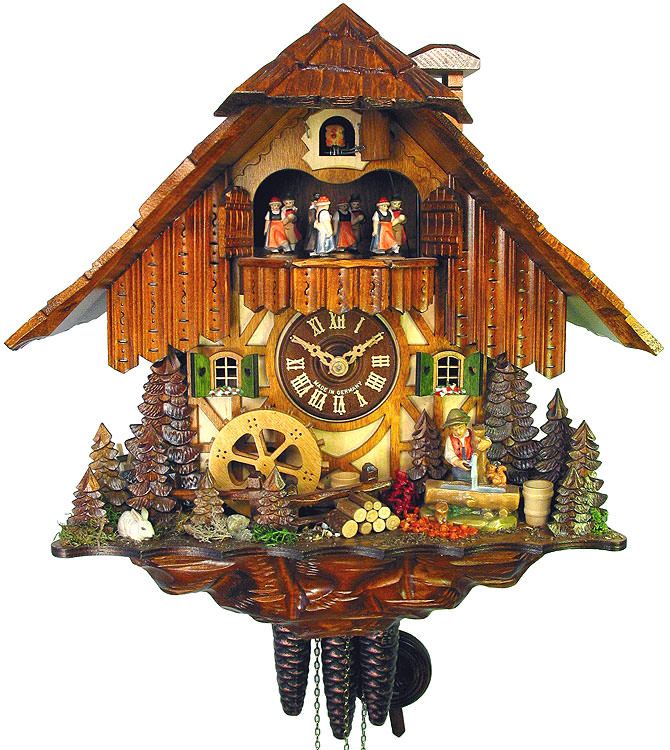 Cuckoo clock 1 day movement chalet style 36cm by august How to make a cuckoo clock