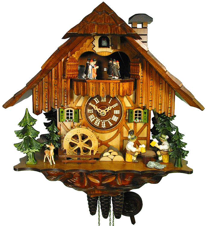 Cuckoo clock 1 day movement chalet style 34cm by august How to make a cuckoo clock