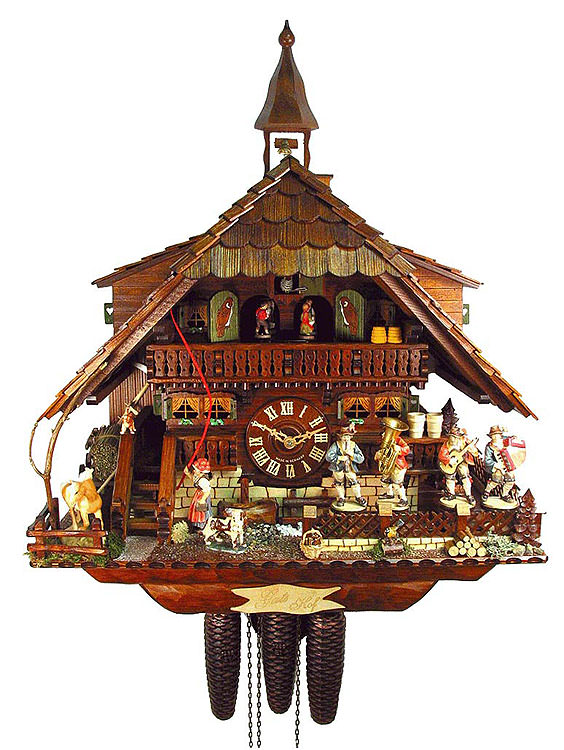 Cuckoo Clock 8-day-movement Chalet-Style 45cm by August Schwer - 0.3658875.01.P