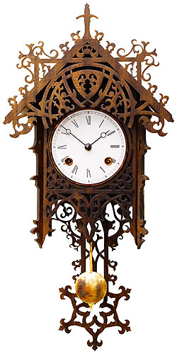 Antique replica clock 8-day-movement 47cm by Rombach & Haas