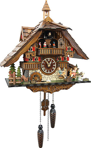 Image For Cuckoo Clock Quartz-movement Chalet-Style 42cm by Cuckoo-Palace