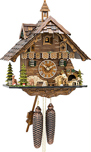Cuckoo-palace.com Cuckoo Clock 8-day-movement Chalet-Style 42cm by Engstler