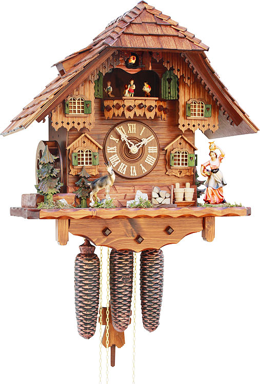 Image For Cuckoo Clock 8-day-movement Chalet-Style 42cm by Rombach & Haas