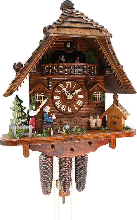 Image For Cuckoo Clock 8-day-movement Chalet-Style 43cm by Rombach & Haas