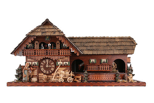 Image For Cuckoo Clock 8-day-movement Chalet-Style 45cm by Rombach & Haas