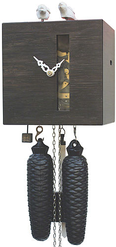 Cuckoo Clock 8-day-movement Modern-Art-Style 19cm by Rombach & Haas