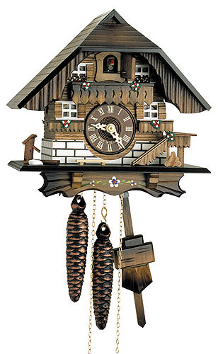 Image For Cuckoo Clock 1-day-movement Chalet-Style 22cm by Hekas
