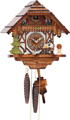 Image For Cuckoo Clock 1-day-movement Chalet-Style 26cm by Hekas