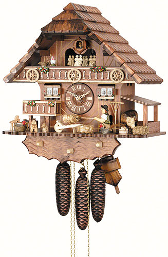 Image For Cuckoo Clock 8-day-movement Chalet-Style 44cm by Hekas
