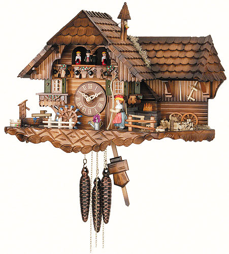 Image For Cuckoo Clock 1-day-movement Chalet-Style 35cm by Hekas