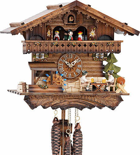 Image For Cuckoo Clock 1-day-movement Chalet-Style 30cm by Hekas