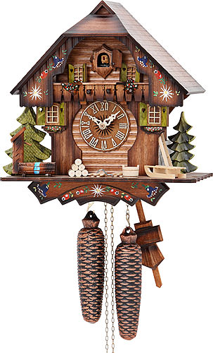 Image For Cuckoo Clock 8-day-movement Chalet-Style 30cm by Hekas