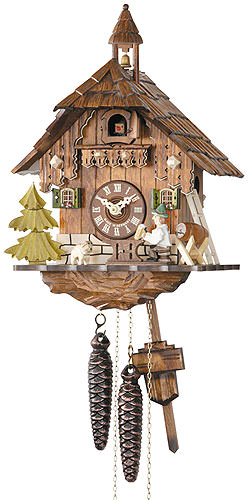Image For Cuckoo Clock 1-day-movement Chalet-Style 32cm by Hekas