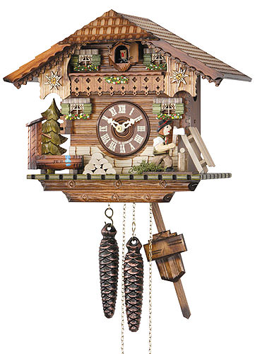 Image For Cuckoo Clock 1-day-movement Chalet-Style 24cm by Hekas