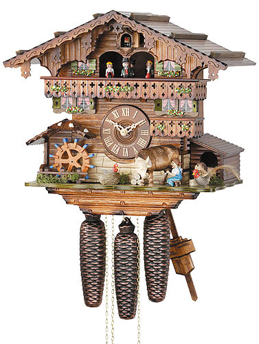 Image For Cuckoo Clock 8-day-movement Chalet-Style 33cm by Hekas
