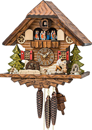 Image For Cuckoo Clock 1-day-movement Chalet-Style 34cm by Hekas