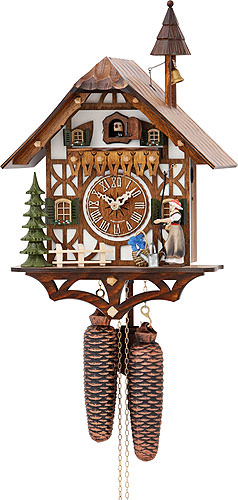 Image For Cuckoo Clock 8-day-movement Chalet-Style 39cm by Hekas