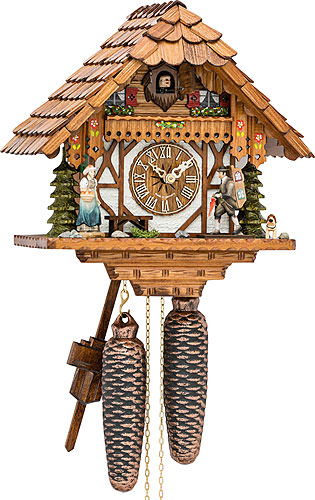 Image For Cuckoo Clock 8-day-movement Chalet-Style 28cm by Hekas