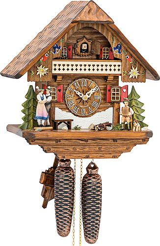 Cuckoo-palace.com Cuckoo Clock 1-day-movement Chalet-Style 32cm by Hekas