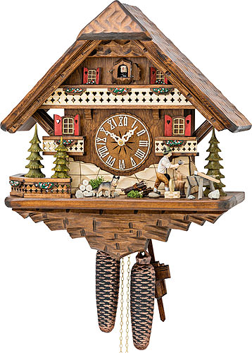 Cuckoo-palace.com Cuckoo Clock 8-day-movement Chalet-Style 42cm by Hekas