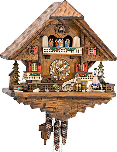 Image For Cuckoo Clock 1-day-movement Chalet-Style 42cm by Hekas