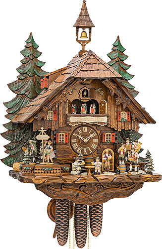 Image For Cuckoo Clock 1-day-movement Chalet-Style 63cm by Hekas