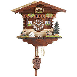 Black Forest Pendulum Clock Quartz-movement 18cm by Trenkle Uhren