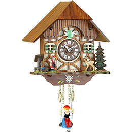 Black Forest Swinging Doll Clock Kuckulino Quartz-movement 20cm by Trenkle Uhren