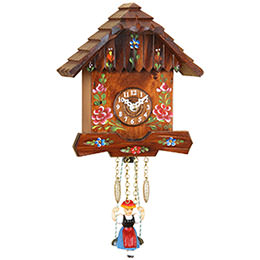 Black Forest Swinging Doll Clock Quartz-movement 16cm by Trenkle Uhren