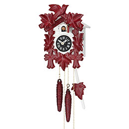 Cuckoo Clock 1-day-movement Carved-Style 21cm by Hekas