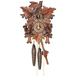 Cuckoo Clock 1-day-movement Carved-Style 23cm by Anton Schneider