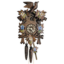 Cuckoo Clock 1-day-movement Carved-Style 23cm by Hekas