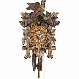Cuckoo Clock 1-day-movement Carved-Style 30cm by Anton Schneider