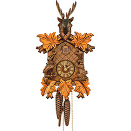Cuckoo Clock 1-day-movement Carved-Style 38cm by Anton Schneider