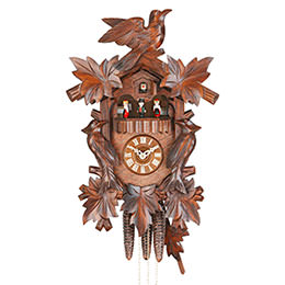 Cuckoo Clock 1-day-movement Carved-Style 40cm by Hekas