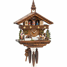 Cuckoo Clock 1-day-movement Chalet-Style 0cm by Hekas