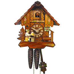 Cuckoo Clock 1-day-movement Chalet-Style 19cm by August Schwer