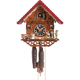 Cuckoo Clock 1-day-movement Chalet-Style 22cm by Hönes