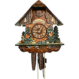 Cuckoo Clock 1-day-movement Chalet-Style 25cm by Anton Schneider