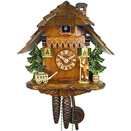 Cuckoo Clock 1-day-movement Chalet-Style 25cm by August Schwer