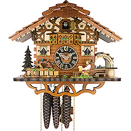 Cuckoo Clock 1-day-movement Chalet-Style 26cm by H�nes